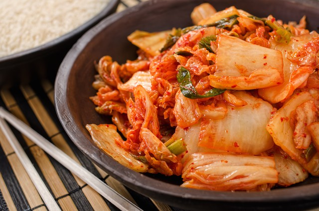Betennelsesdempende mat fermentert kimchi