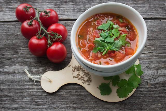 kjøttkraft i tomatsuppe