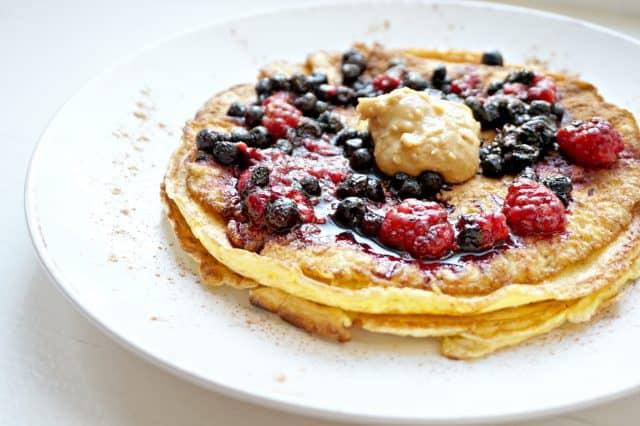 Sunne pannekaker uten sukker, gluten og melk