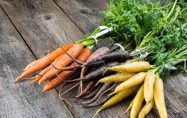 økologiske gulerøtter