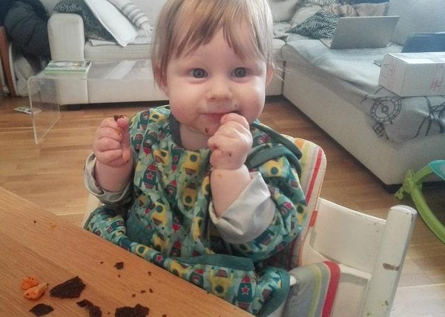 baby spiser blodpannekake