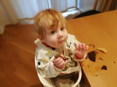 Image: Superenkel babymat som babyen din kan spise selv