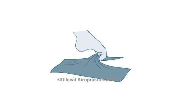 tå fleksjonstrening illustrasjon ullevål kiropraktorklinikk