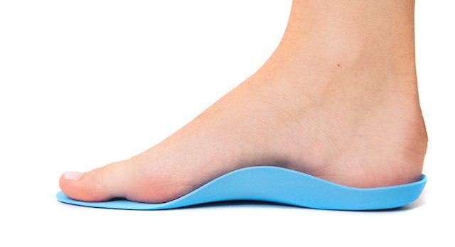 Fot i ortopediske såler