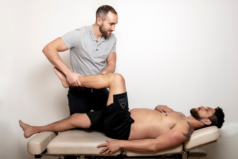 undersøkelse bevegelse av hoften hos kiropraktor